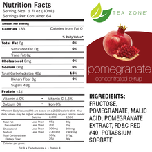 Tea Zone Pomegranate Fruit Syrup 64 Oz.