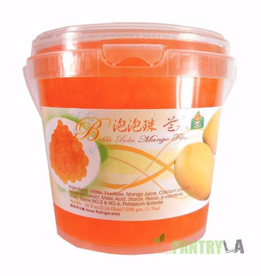 Bolle MANGO Popping Boba Pearls 2 lbs. 10 oz.
