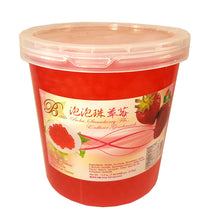 Bolle STRAWBERRY Popping Boba Pearls 112 Oz./7 lbs.  Restaurant Size
