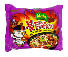 Samyang Variety Pack 4 Kinds (Original, 2 X Spicy, Mala, Stew), 2 Each of Spicy Hot Chicken Ramen Korean Noodle (Pack of 8)