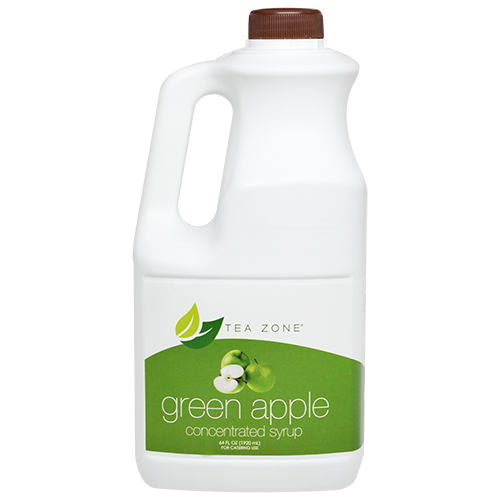 Tea Zone Green Apple Fruit Syrup 64 Oz.