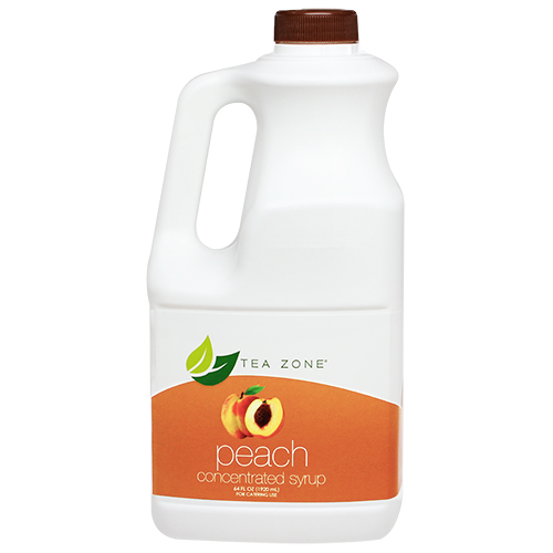 Tea Zone Peach Fruit Syrup 64 Oz.