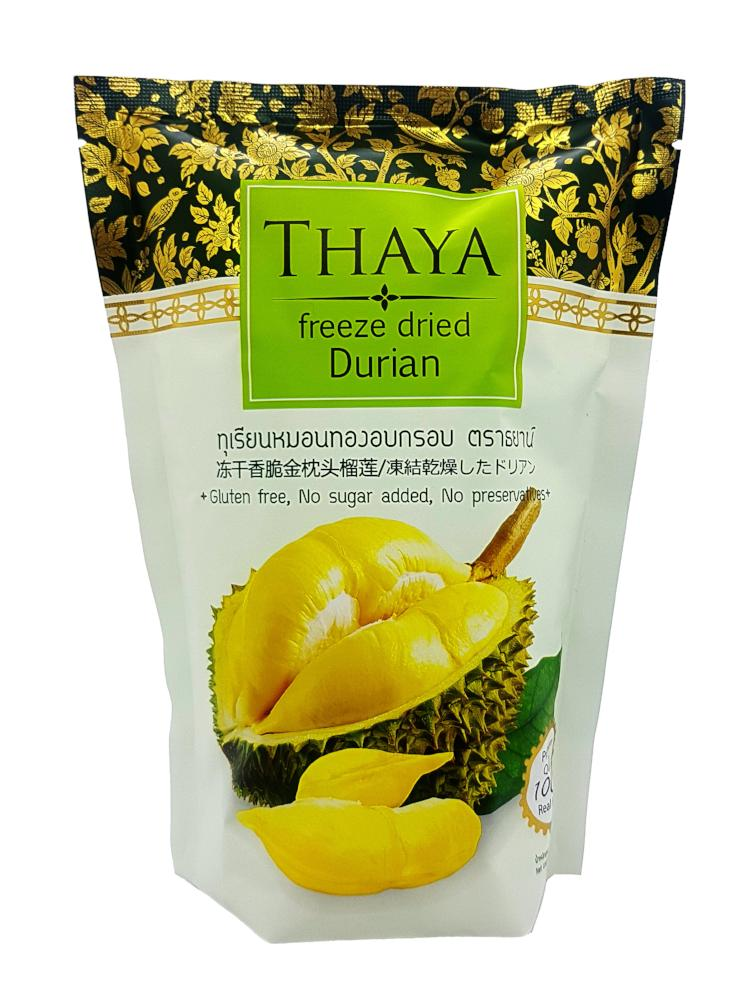 Thaya Premium Freeze Dried Mon Thong Durian 100% Real Fruit 40 G.