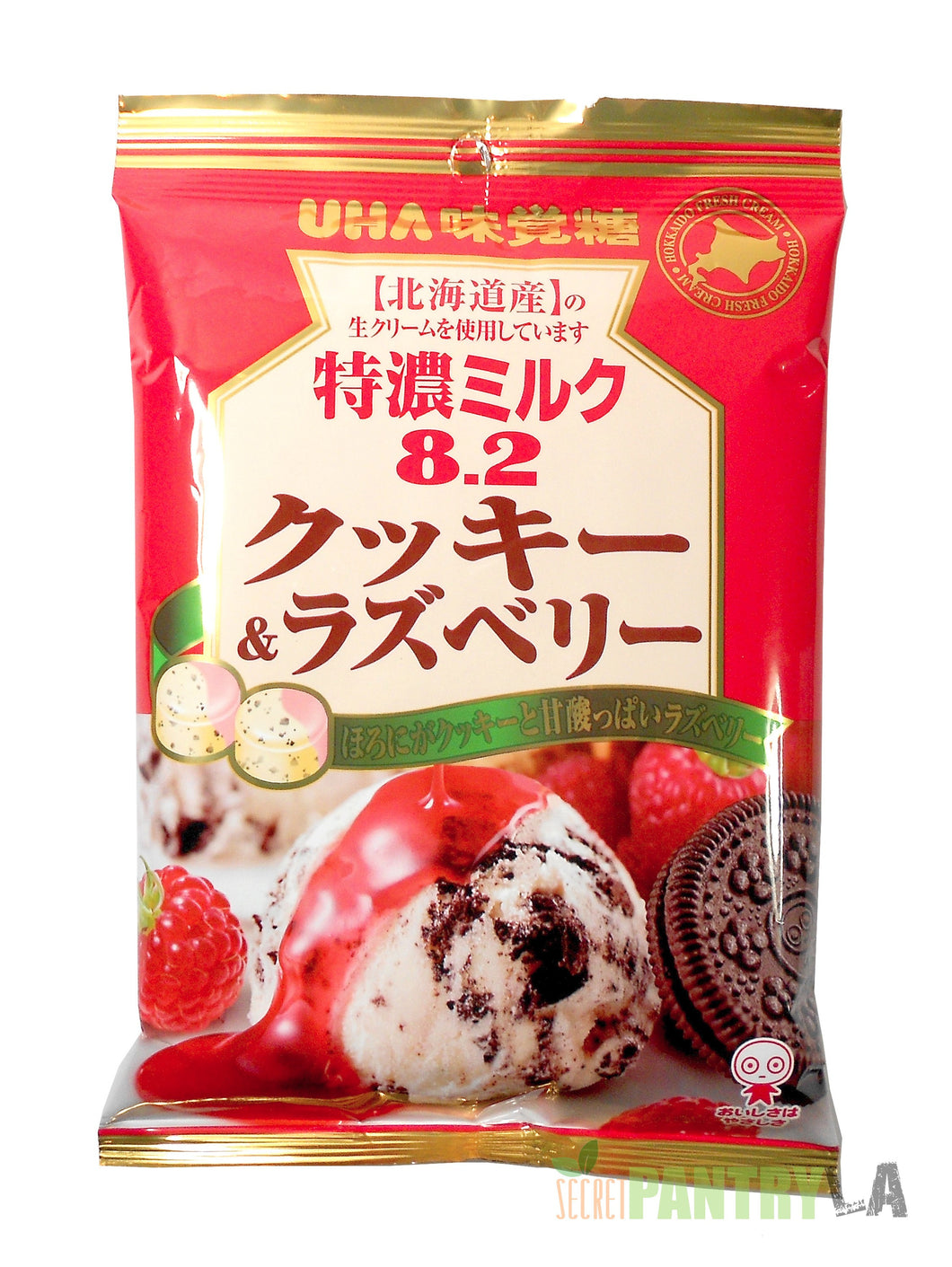 UHA 8.2 High Concentrated Tokuno Milk Cookies & Raspberry Candy 2.85 OZ.