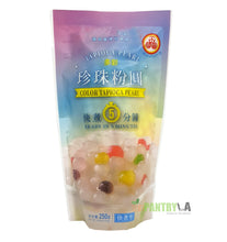 WuFuYuan Rainbow Boba Tapioca Pearls 8.8 Oz X 3 with 25 Boba Straws Individually Wrapped