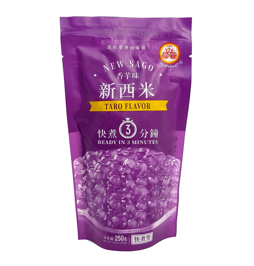 WuFuYuan Taro New Sago Boba Tapioca Pearls Ready in 5 Mins 8.8 Oz
