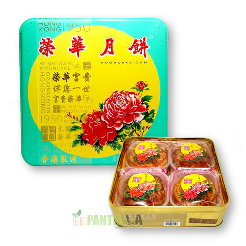 Hong Kong Wing Wah Assorted Mooncake 4 Kinds 26 Oz. / 740 g (1 lb.10 oz.)
