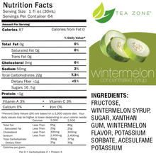 Tea Zone Wintermelon Fruit Syrup 64 Oz.