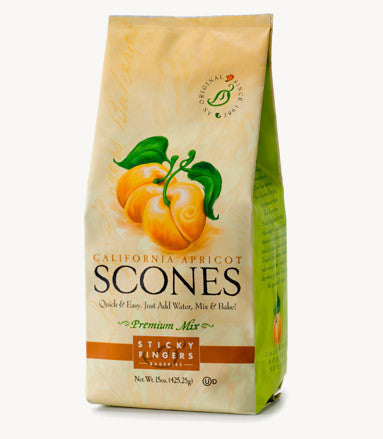Sticky Fingers California Apricot Premium English Scone Mix 16 Oz.