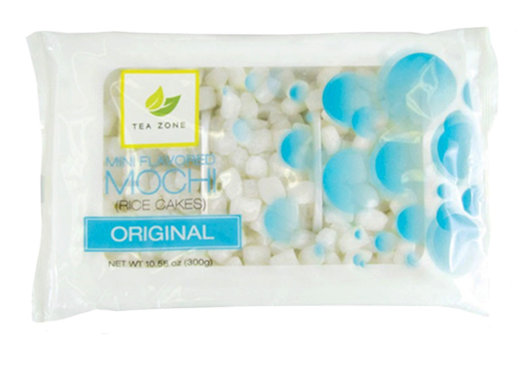 Tea Zone Mini Mochi Rice Cakes ORIGINAL Ice Cream, Frozen Yogurt, Desserts Topping 10.58 Oz.