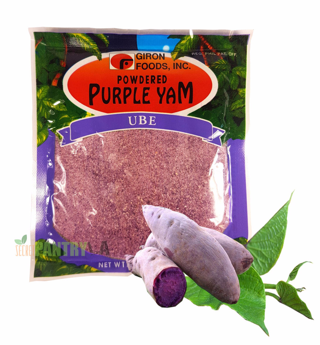 Purple Yam Ube Dehydrated Powder 4.06 Oz.  X 50 by Giron Foods Factory Case