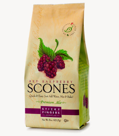 Sticky Fingers Red Raspberry Premium English Scone Mix 16 Oz.