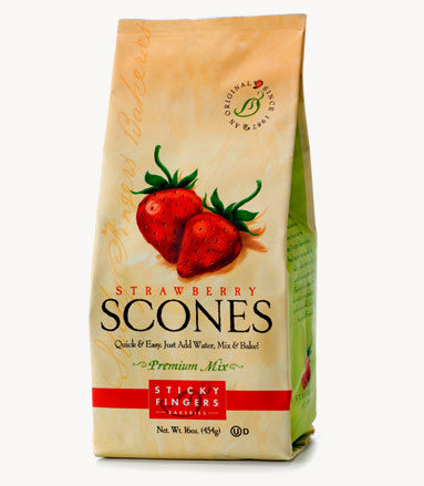 Sticky Fingers Strawberry Premium English Scone Mix 16 Oz.