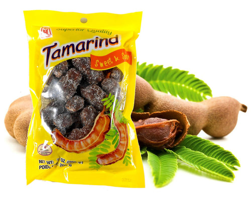 Thai Sweet & Sour Tamarind with Chili Snack Whole Pod Non Spicy 7 Oz.