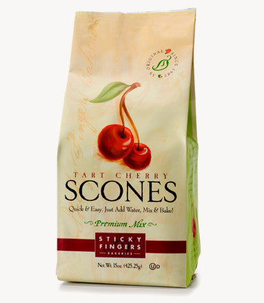 Sticky Fingers Tart Cherry Premium English Scone Mix 16 Oz.