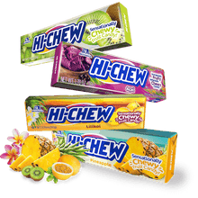 Hi-Chew Stick TROPICAL Chewy Fruit Candy by Morinaga 6 Assorted Flavors (Pack of 12)