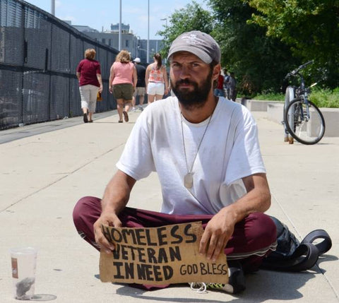 young homeless vet