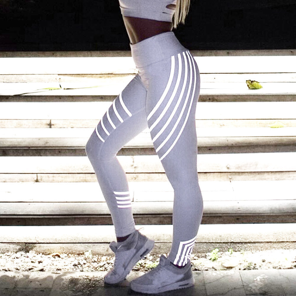 Glowing yoga pants