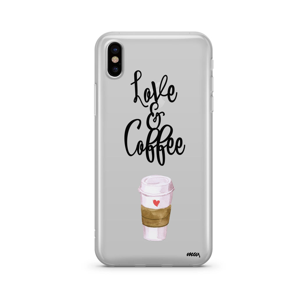 Love and Coffee gray soft case