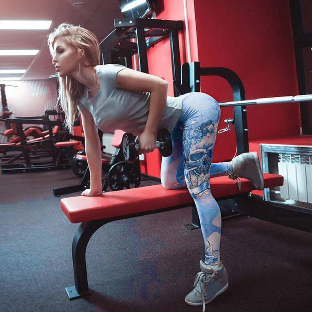 Women High Waist Yoga Fitness Leggings Running Stretch Sports Pants Trousers