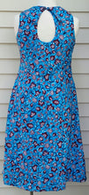 Blue Printed A-line Cotton dress- Achaa
