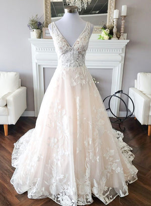 Elegant tulle lace ball gown dress evening dress