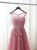 Charming A line lace short prom dress, lace homecoming dress