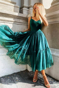 Cute tulle short prom dress A line party dress
