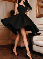 Black sweetheart neck short prom dress, homecoming dress