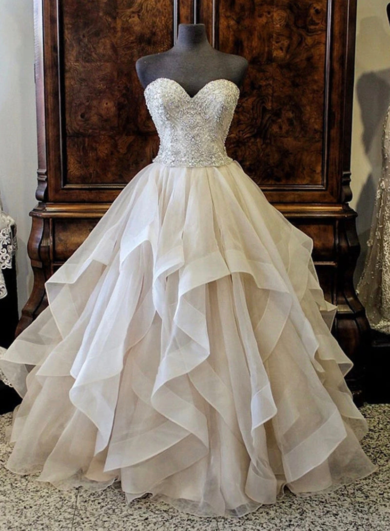 Gorgeous Sweetheart layered ball gown