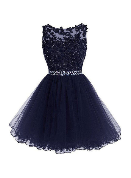Cute A line lace short prom dress, homecoming dresses