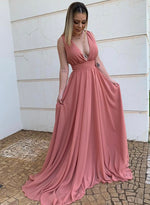 Simple chiffon long prom dress evening dress