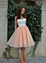 Cute tulle A line short prom dress, cute homecoming dress