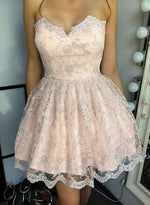 Cute lace short prom dress, homecoming dress