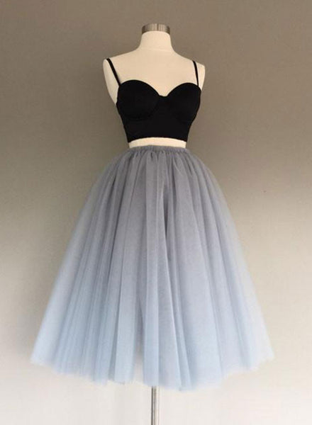 Cute tulle two pieces short prom dress, homecoming dress