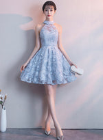 Cute lace tulle short prom dress party dress