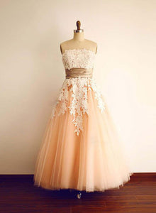 Cute A line tulle lace short prom dress, homecoming dress