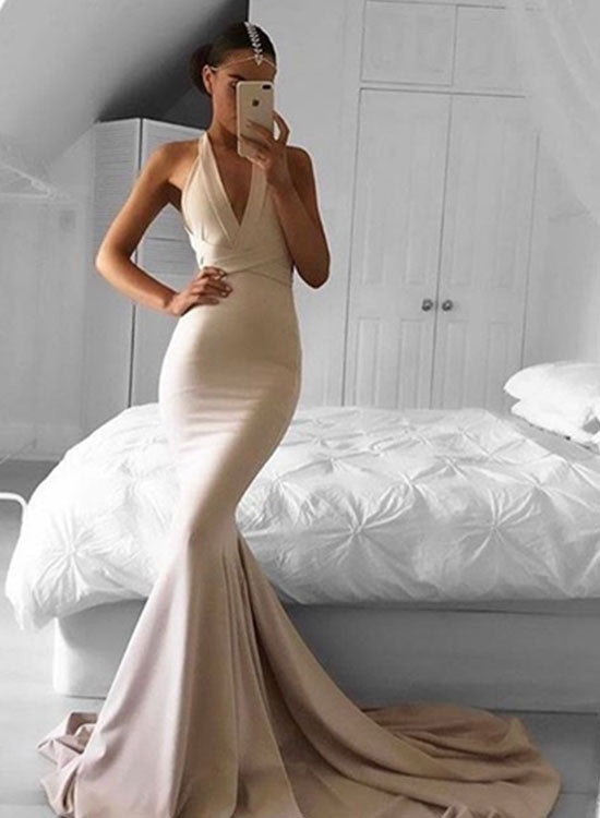 Sexy mermaid long prom dress, mermaid evening dresses