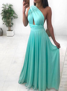 Simple chiffon long prom dress, evening dress