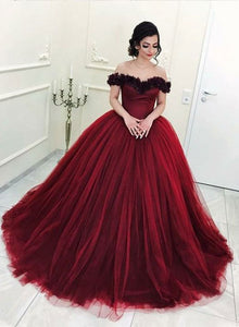 Burgundy long prom gown, formal dress