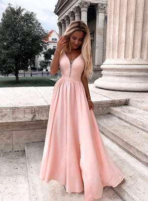 Stylish chiffon long prom dress evening dress