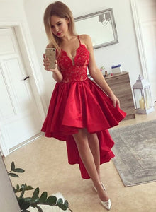 Lace High Low Formal Dress