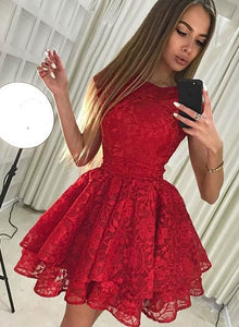 ef279cd0529 Cute lace short prom dress, homecoming dress – trendty
