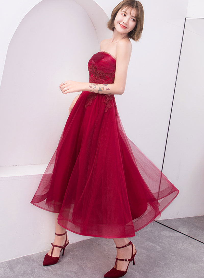 Cute tulle lace short prom dress, homecoming dress