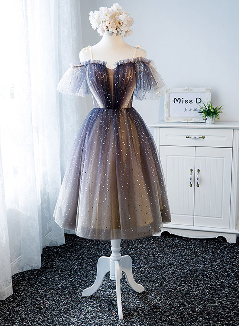 Cute tulle short prom dress, homecoming dress