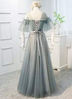 Elegant tulle long prom dress, evening dress
