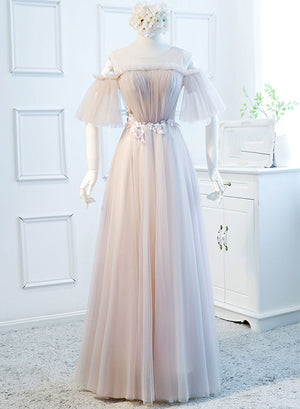 Cute tulle lace short prom dress, bridesmaid dress