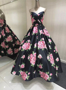 Gorgeous floral pattern long prom dress, evening dress