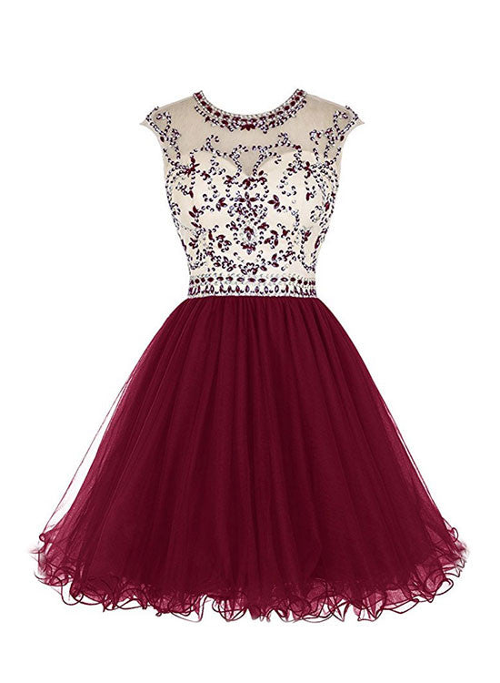 Charming tulle short prom dress, homecoming dress