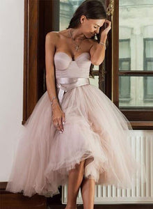Cute sweetheart neck tulle short prom dress,homecoming dresses